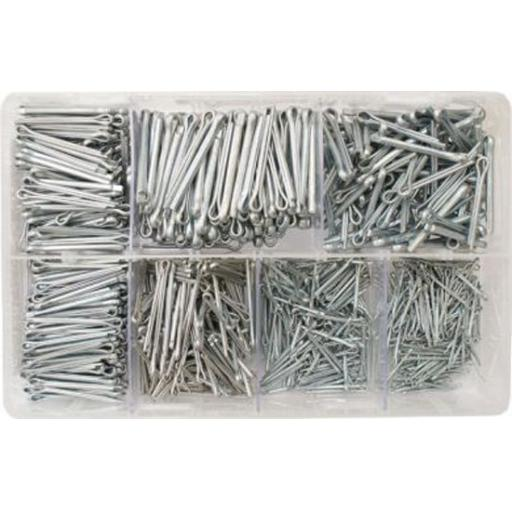 Assorted Box of  Split Pins 1/16-5/32 BZP (1000) Retaining Clevis / Cotter Pin