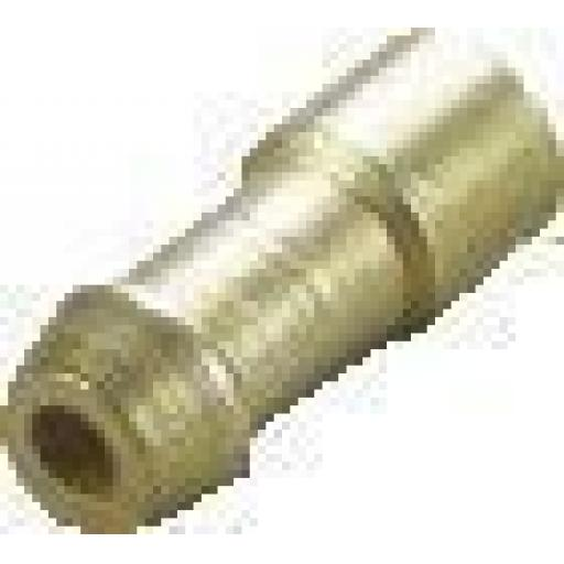 Uninsulated Brass Bullet Terminal Connector 4.7mm Crimp Type Up to 2mm≤ Cable - Classic type CB GT KH RD