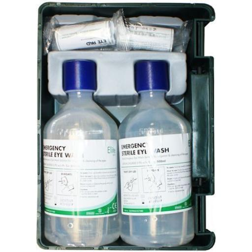 Eyewash Station (Wall Mountable) Emergency Eyewash Station Lift Off Carry Case First Aid Eye Wash Kit