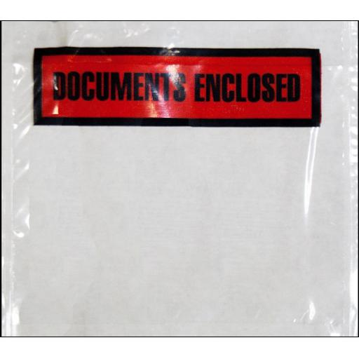 Box of C7 Documents Enclosed Envelopes (1K) - Printed Documents Enclosed Sticky Wallets Envelops