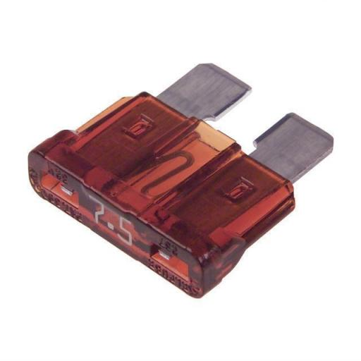 Blade Fuses 7.5 Amp (Dark Brown)  - Dark Brown Standard Blade Wedge Spade Fuse - Car Van Truck Lorry Auto Tractor Marine Boat Wire Cable Wiring Electric