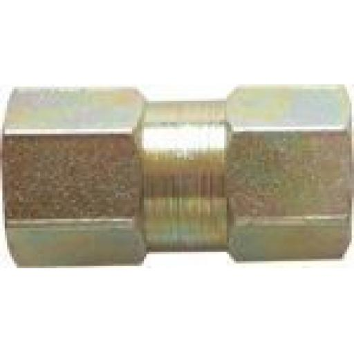 Copper Brake Pipe Female Connectors 10mm x 1mm (10) - Car auto connectors Nuts Unions