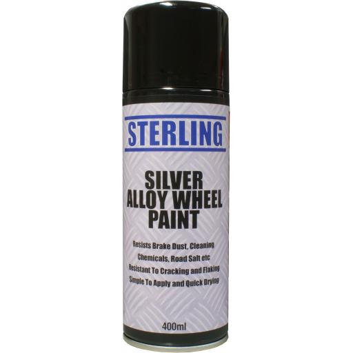 "Sterling Silver ""Alloy Wheel"" Paint Aerosol/Spray (400ml) - Car Van Auto Truck Lorry Motorbike Boat Bodyshop Paint"