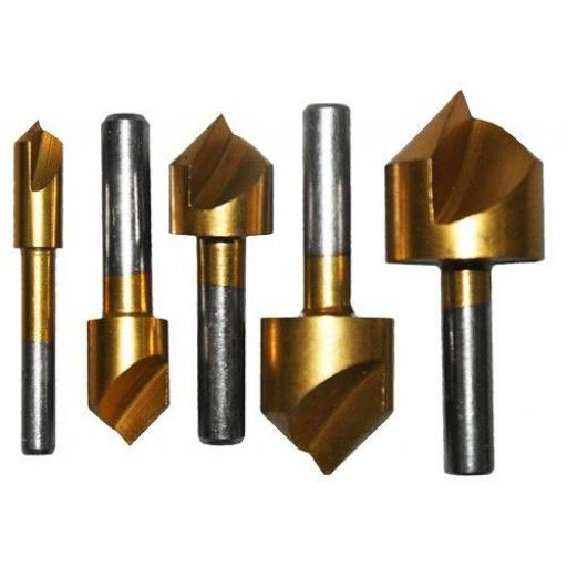 Countersink Set 5PC - Carbon steel for wood,plastic,aluminium