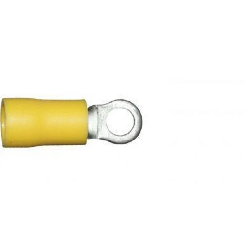 Yellow Ring 4.3mm (3BA) (crimps terminals) - Yellow Car Auto Van Wiring Crimp Electrical Crimping Ring Joiner Connectors - Auto Electric Cable Wire