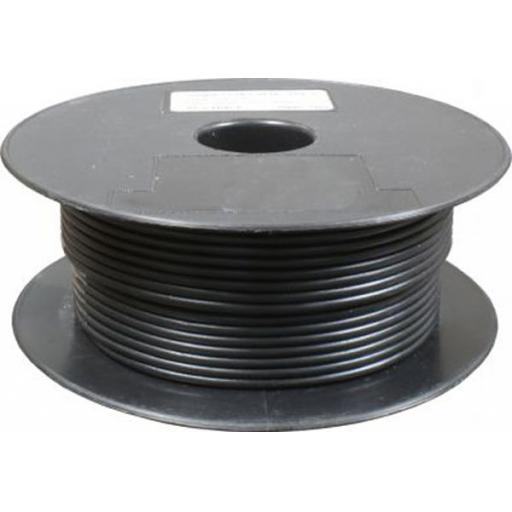 Single Core Cable 28/030 x 50m Black - Car Van Truck Tractor lorry Automotive Auto Electric Marine Cable Round Trailer Wire Wiring PVC