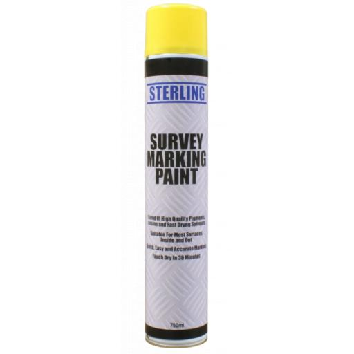 Line Marker Aerosol/Survey Spray (750ml) - Sports Field Grass Pitch Car Park Road Warehouse