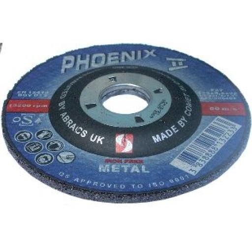 "41/2"" Grinding Discs 115mm x 6mm x 22mm (5) - Angle Grinder Disks Depressed Centre Blade Steel"