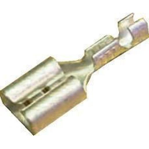 Uninsulated Spade Terminals  6.3mm (1.5mm≤ cable) Crimp Car Auto Wiring Electrical Female Connectors - Auto Cable