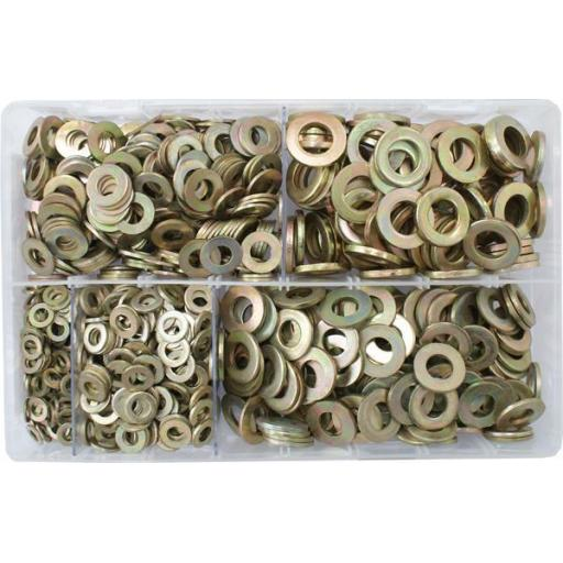 Assorted Flat Washers Metric - BZP (Form A) used with Nuts and Flat Washers 8.8 High Tensile Fasteners Bolts Set Screws Metric