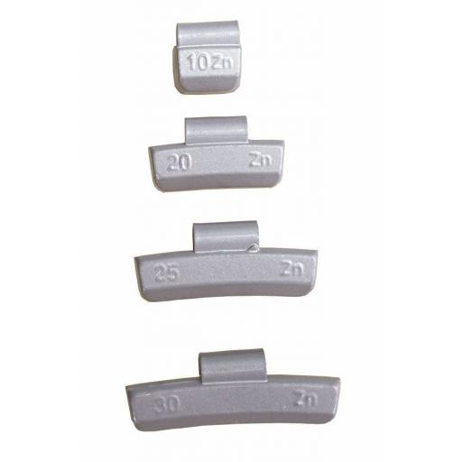 Zinc Wheel Weights for ALLOY Wheels 25g (100) - Hammer On Tyre Changer Balancer Car Van Truck Tyre Puncture