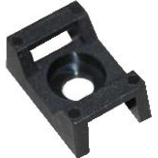 Cable Ties Cradle 5.0mm Black - Base Saddle Cradle Mounts Bases Wire Clips Clamps Cable Ties Holder