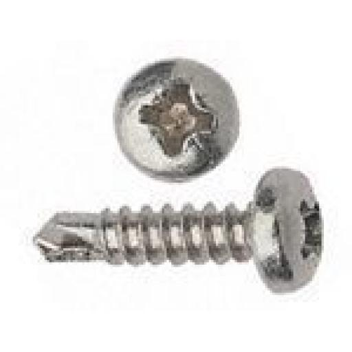 Self drilling Screws 6 x 1 BZP - Pan Head Self Drilling Drikller Pozi  Tek BZP Metal Fixing Window Roofing