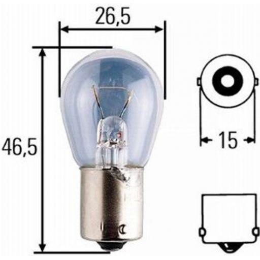 EB241 Bulbs Stop/Flasher 24v-21w SCC BA15S - Commercial Truck Lorry HGV Trailer Light Bulb