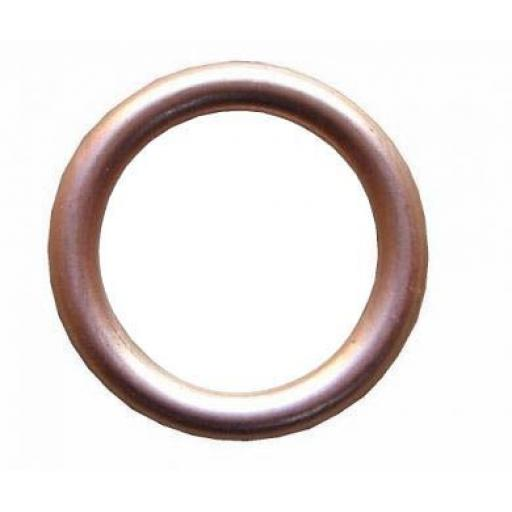 Copper Compression Washers 6 x 10 x 1.5mm - Sealing Crush Hollow Washers Oil Seal Car Sump Metric Plumbing