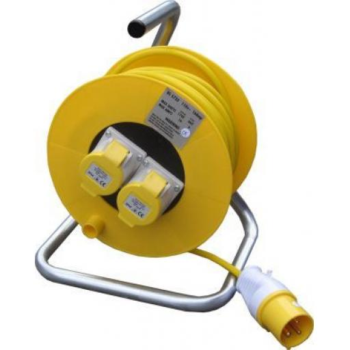 110v (16a) Cable Extension Reel - Electric Twin Socket