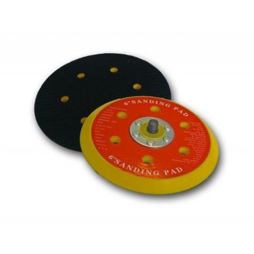 150mm Backing Pad for Hook and Loop Discs - Sanding Disc Pad 6 Holes Sandpaper Grinder Sander Polisher Various grit