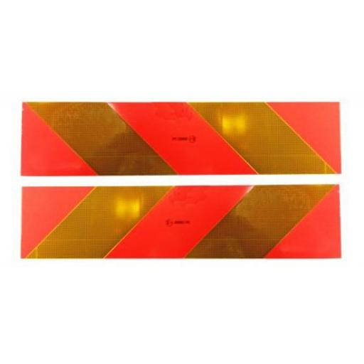 Pair of Marker Boards ECE70 (type 262)  - Signs Lorry Truck Trailer Aluminium Chevron Sign Board