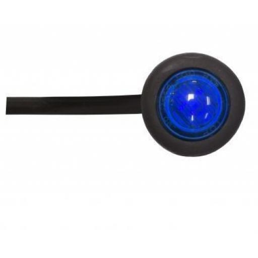 LED Utility Button Lamp (Blue)- Car Truck Lorry Trailer Round Led Button Rear Side 12V Truck Marker Light Lamps