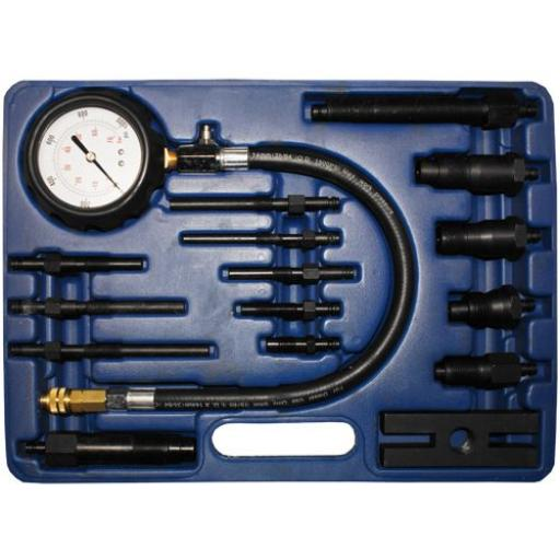 Silverline Diesel Engine Compression Testing Kit Car Van Truck Tractor Diagnostic Garage Tools