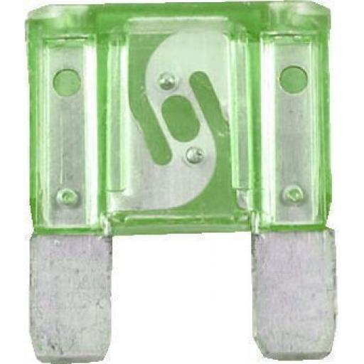 MAXI Blade Fuses 30 Amp GREEN - 30A Green Maxi Large Big  Blade Wedge Spade Fuse - Car Van Truck Lorry Auto Tractor Marine Boat Wire Cable Wiring Electric
