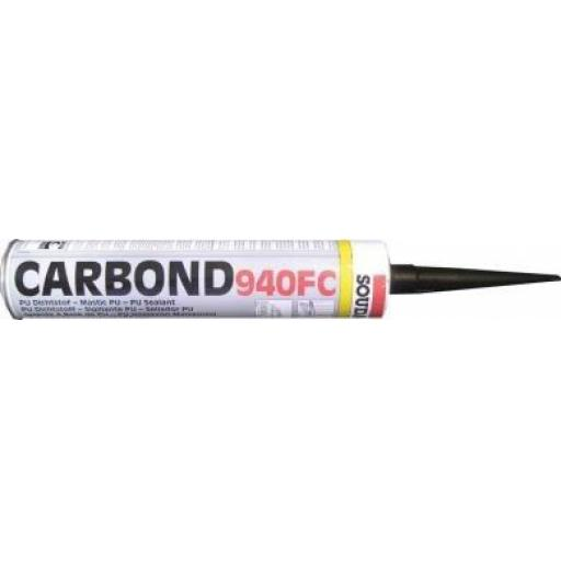 Soudal Carbond Polyurethane Filler Panel Adhesive Sealant Black (310ml) -