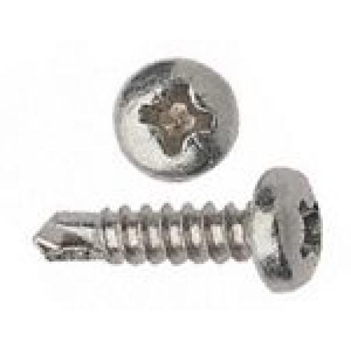 Self drilling Screws 7 x 7/16 BZP - Pan Head Self Drilling Drikller Pozi  Tek BZP Metal Fixing Window Roofing