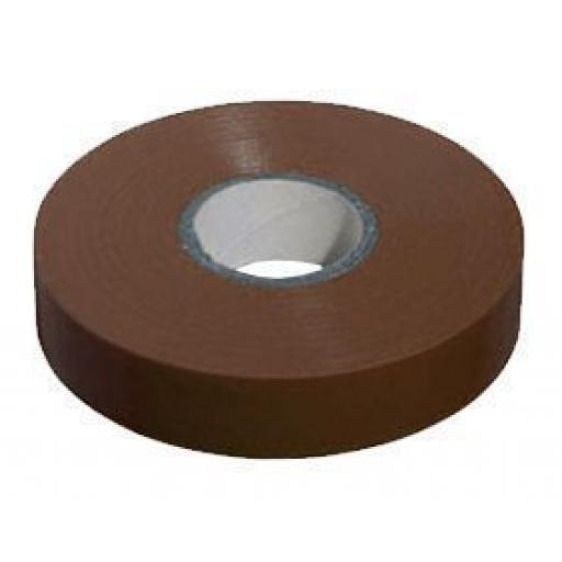 PVC insulation Tape BS3924 Brown 19mm X 20m - Wide Electrical Insulating Flame Retardant Cable Repair Electric Wiring Colour