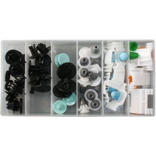 Assorted Trim Clips - Audi (31pc) - Plastic Fastener Retainer Fixing Bodyshop Car Van Auto Crash Repair