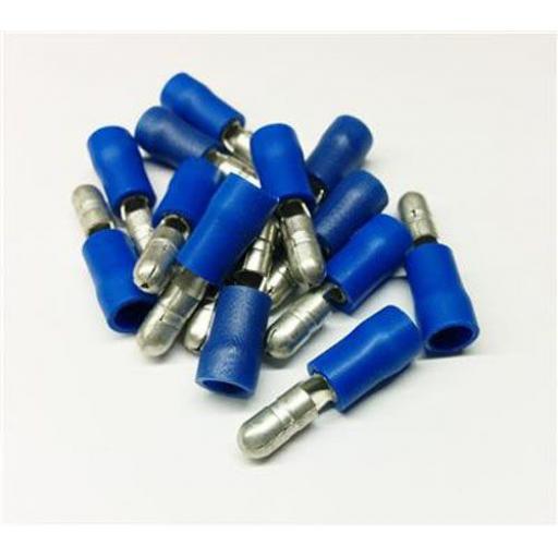 Blue Bullet 5.0mm (crimps terminals) -  Blue Car Auto Van Wiring Crimp Electrical Crimping Bullet Connectors - Auto Electric Cable Wire