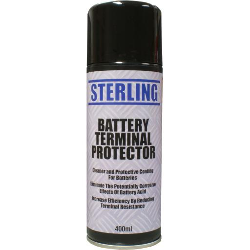 Sterling Battery Terminals Cleaner Aerosol/Spray (400ml) - Anti Corrosion Rust  Protector  Cleaner