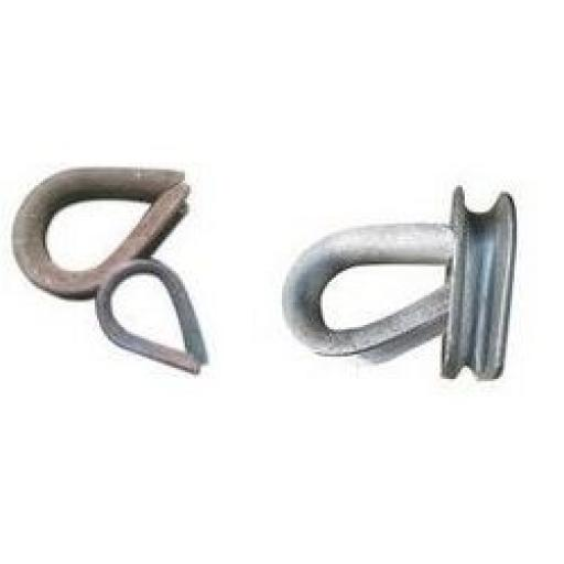 Rope Thimbles - Mixed (40) Cable Clamp Grip Steel Metal Wire U Bolts Fixing