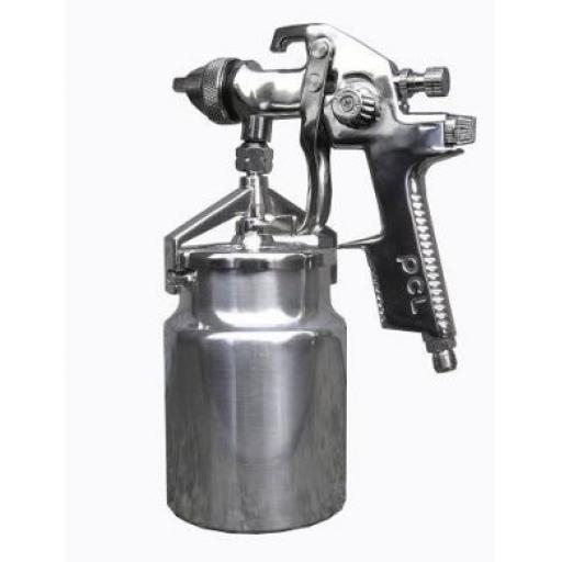 PCL HVLP Professional Suction Spray Gun with 1 Litre Cup High Quality - Bodyshop Car Paint