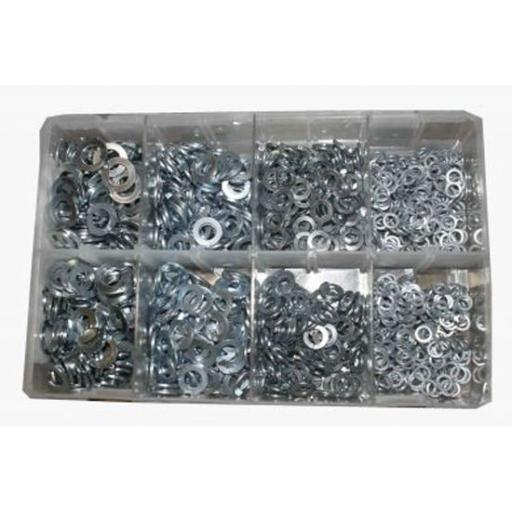 Assorted Stainless Steel Metric Spring Washers (650) used with Nuts and Flat Washers 8.8 High Tensile Fasteners Bolts Set Screws Metric