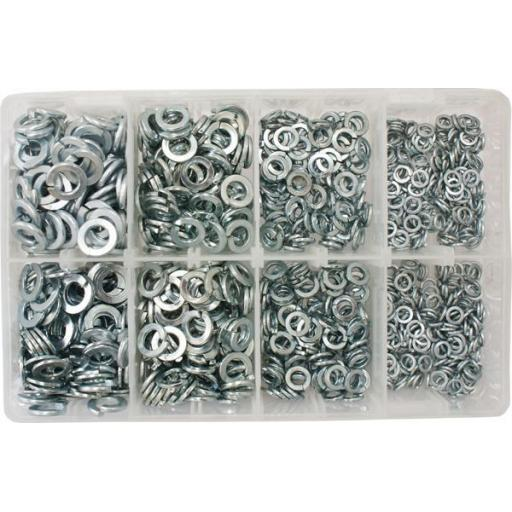 Assorted Spring Washers 3/16-3/8 (1000) used with Nuts and Flat Washers 8.8 High Tensile Fasteners Bolts Set Screws Imperial