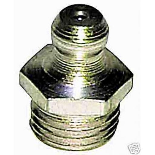 Grease Nipples 1/8 BSP Straight (50)  - Hydraulic Grease Nipple Steel Zinc Plated Lubrication Fitting Lube Oil Fittings Connectors