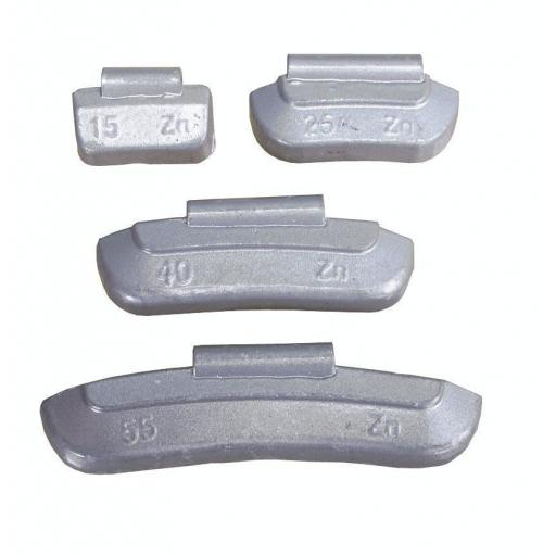 Zinc Wheel Weights for STEEL Wheels 15g (100) - Hammer On Tyre Changer Balancer Car Van Truck Tyre Puncture