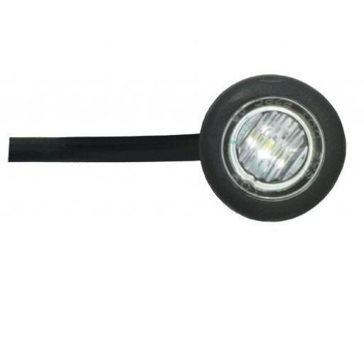 LED Utility Button Lamp (white)- Car Truck Lorry Trailer Round Led Button Rear Side 12V Truck Marker Light Lamps