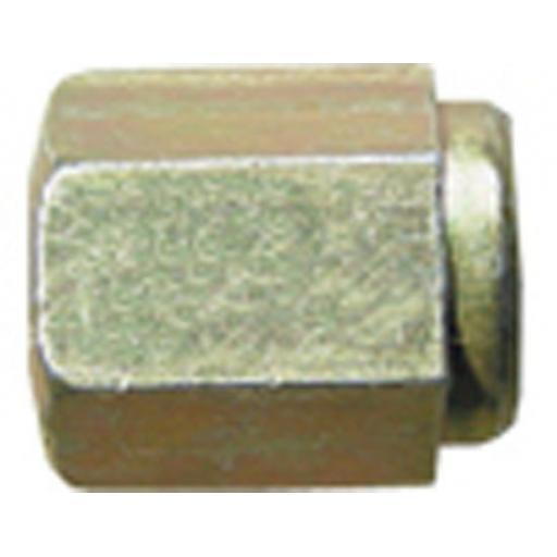 Copper Brake Pipe Nuts 10mm x 3/16 FEMALE (50) - Car auto connectors Nuts Unions