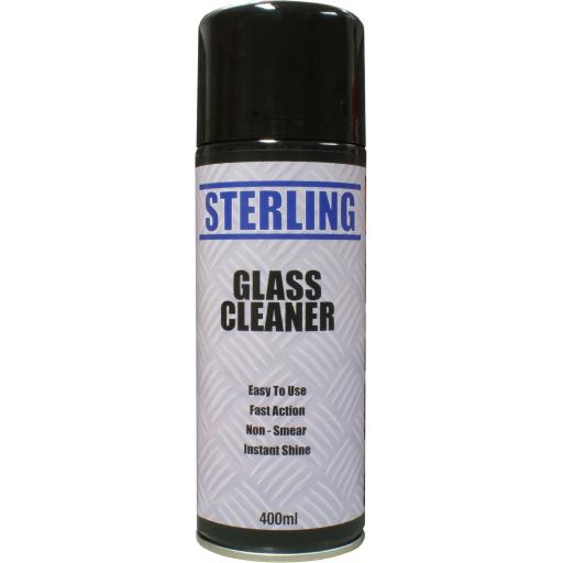 Sterling Glass Cleaner Aerosol/Spray (400ml) - Window Mirror Cleaning Car windscreen