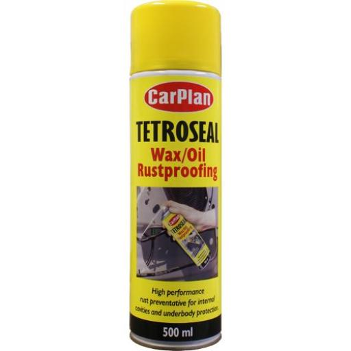 Tetroseal Clear Wax Oil (500ml) - Rustproofing Rust Clear Underbody Protection