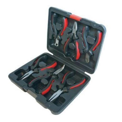 "Silverline 7"" Circlip Pliers Set (4 piece) Snap Ring Pliers With Case Internal & External 7"" 175mm Long"