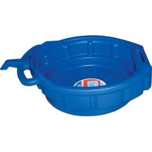 Oil Drain Pan (16 litres) Heavy Duty - Oil Coolant & Gearbox Fuel Drain Pan Tray 16 litre capacity bucket Car Van Motorbike