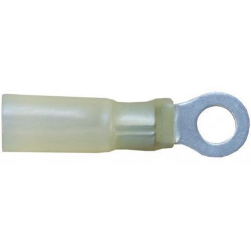Yellow Heatshrink Ring 5.3mm (25)  - Heatshrink Wiring Terminals Crimp 3:1 Adhesive Lined  Heat Shrink Waterproof