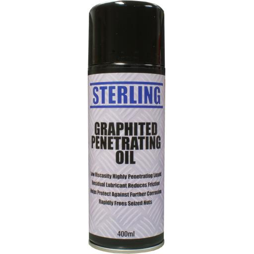 Sterling Graphited Penetrating Oil Aerosol/Spray (400ml)- Low viscosity high penetrating liquid Corroded Rusted Rust Bolts Nuts Screw