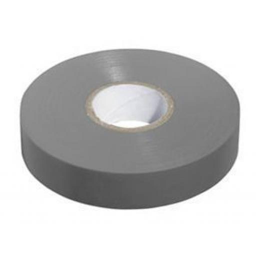 PVC insulation Tape BS3924 Grey 19mm X 20m - Electrical Insulating Flame Retardant Cable Repair Electric Wiring Colour