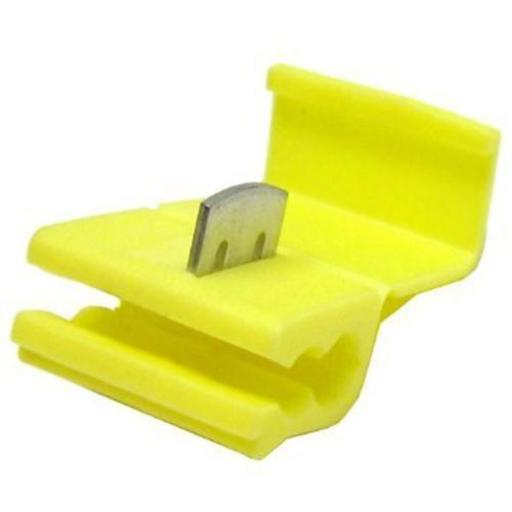 Yellow Low Voltage Connector (crimps terminals) - Yellow Scotchlocks Snap On Connector Wire Splicer Scotchlok Terminal Quick Splice Auto Electric Cable Wire