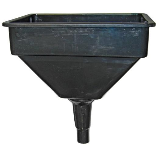 "Funnel 12"" Rectangular with Filter Funnel Flexi Spout Garage Fuel Diesel Funnel Filter Petrol Car Bike FN1/5"