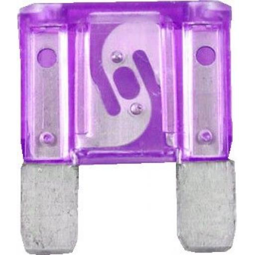 MAXI Blade Fuses 100 Amp PURPLE  - Purple Maxi Large Big  Blade Wedge Spade Fuse - Car Van Truck Lorry Auto Tractor Marine Boat Wire Cable Wiring Electric
