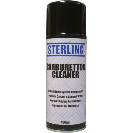Sterling Carburettor Cleaner Aerosol/Spray (400ml) - Carb Clean Cleaning Chokes Maintenance for for Car and Motorcycle